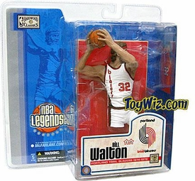 McFarlane Toys NBA Sports Picks Legends Series 1 Action Figure Bill Walton (Portland Trail Blazers) White Uniform Variant