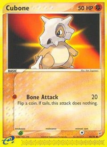 Pokemon Card Game EX Team Aqua-Team Magma Single Card Common #40 Cubone