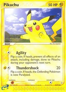 Pokemon Card Game EX Team Aqua-Team Magma Single Card Common #43 Pikachu