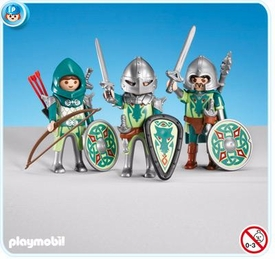 Playmobil Dragon Land Set #7973 3 Green Dragon Knights