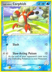 Pokemon Card Game EX Team Aqua-Team Magma Single Card Common #51 Team Aqua's Corphish