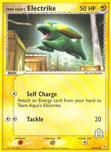 Pokemon Card Game EX Team Aqua-Team Magma Single Card Common #53 Team Aqua's Electrike