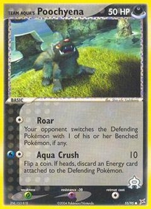 Pokemon Card Game EX Team Aqua-Team Magma Single Card Common #55 Team Aqua's Poochyena