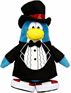 Disney Club Penguin 6.5 Inch Series 13 Plush Figure Classy T-Shirt [Includes Coin with Code!]