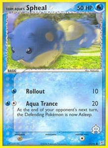 Pokemon Card Game EX Team Aqua-Team Magma Single Card Common #57 Team Aqua's Spheal