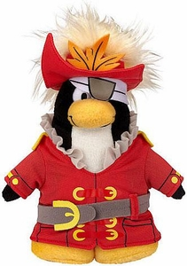 Disney Club Penguin 6.5 Inch Series 14 Plush Figure Swashbuckler [Includes Coin with Code!]