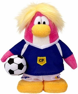 Disney Club Penguin 6.5 Inch Series 14 Plush Figure Soccer Girl [Includes Coin with Code!]