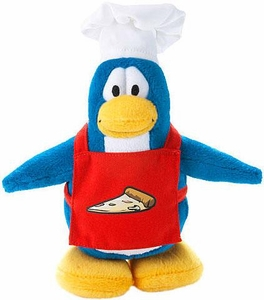 Disney Club Penguin 6.5 Inch Series 14 Plush Figure Pizza Chef [Includes Coin with Code!]