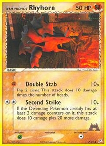 Pokemon Card Game EX Team Aqua-Team Magma Single Card Common #67 Team Magma's Rhyhorn