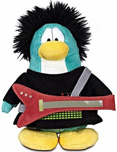 Disney Club Penguin 6.5 Inch Series 12 Plush Figure New Rocker [Includes Coin with Code!]