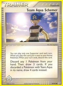 Pokemon Card Game EX Team Aqua-Team Magma Single Card Common #69 Team Aqua Schemer