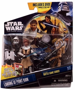 Star Wars 2011 Clone Wars Exclusive DVD Action Figure 2-Pack Landing at Point Rain [Obi-Wan Kenobi & Battle Droid]