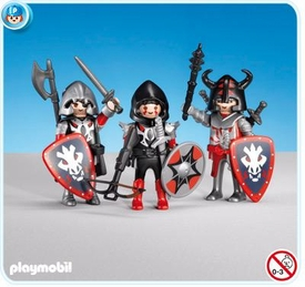 Playmobil Dragon Land Set #7975 3 Red Dragon Knights