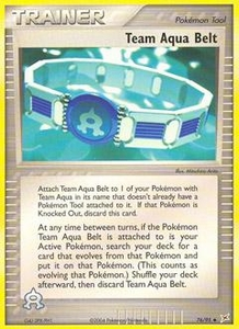 Pokemon Card Game EX Team Aqua-Team Magma Single Card Uncommon #76 Team Aqua Belt