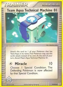 Pokemon Card Game EX Team Aqua-Team Magma Single Card Uncommon #79 Team Aqua Technical Machine 01