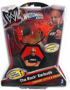 WWE Wrestling The Rock Earbuds