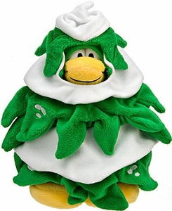 Disney Club Penguin 6.5 Inch Series 10 Plush Figure Christmas Tree [Includes Coin with Code!]