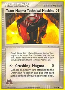 Pokemon Card Game EX Team Aqua-Team Magma Single Card Uncommon #84 Team Magma Technical Machine 01