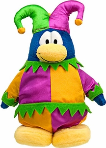 Disney Club Penguin 6.5 Inch Series 10 Plush Figure Jester [Includes Coin with Code!]