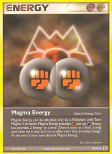 Pokemon Card Game EX Team Aqua-Team Magma Single Card Uncommon #87 Magma Energy