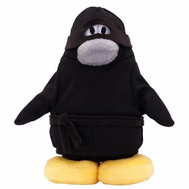 Disney Club Penguin 6.5 Inch Series 9 Plush Figure Ninja {Version 3} [Includes Coin with Code!]