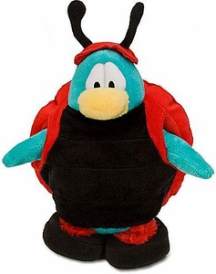 Disney Club Penguin 6.5 Inch Series 9 Plush Figure Ladybug [Includes Coin with Code!]