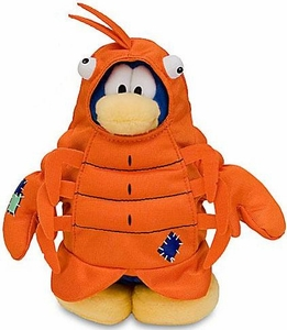Disney Club Penguin 6.5 Inch Series 9 Plush Figure Lobster [Includes Coin with Code!]