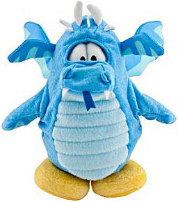Disney Club Penguin 6.5 Inch Series 8 Plush Figure Blue Dragon [Includes Coin with Code!]