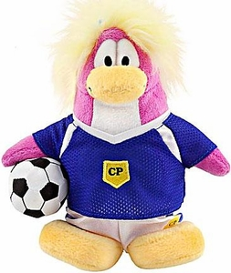 Disney Club Penguin 6.5 Inch Series 8 Plush Figure Girl Soccer Player [Includes Coin with Code!]