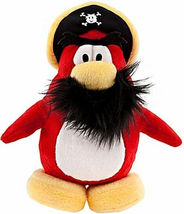 Disney Club Penguin 6.5 Inch Series 8 Plush Figure Captain Rockhopper {Version 3} [Includes Coin with Code!]