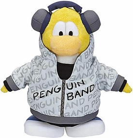 Disney Club Penguin 6.5 Inch Series 7 Plush Figure Band Member {Version 2} [Yellow] [Includes Coin with Code!]