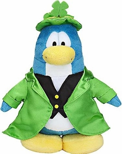 Disney Club Penguin 6.5 Inch Series 7 Plush Figure Leprechaun {Version 1} [Includes Coin with Code!]