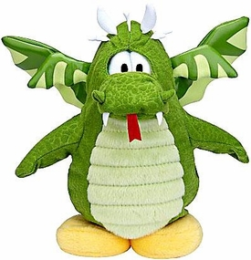 Disney Club Penguin 6.5 Inch Series 6 Plush Figure Green Dragon {Version 2} [Includes Coin with Code!]