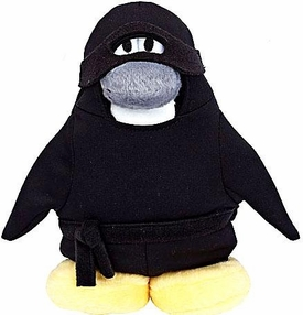 Disney Club Penguin 6.5 Inch Series 6 Plush Figure Ninja {Version 2} [Includes Coin with Code!]