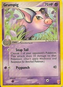 Pokemon Card Game EX Trainer Kit 2 (Red) Single Card Common #3 Grumpig