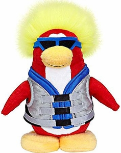 Disney Club Penguin 6.5 Inch Series 6 Plush Figure Water Sport {Version 1} [Includes Coin with Code!] Chase Piece!