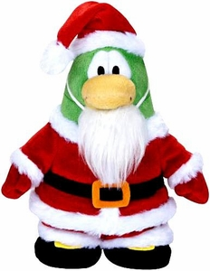 Disney Club Penguin 6.5 Inch Series 5 {Holiday} Plush Figure Santa {Version 2} [Includes Coin with Code!]