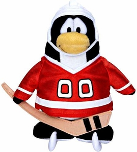 Disney Club Penguin 6.5 Inch Series 5 Plush Figure Hockey Player {Red Jersey} [Includes Coin with Code!]