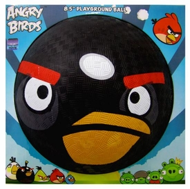Angry Birds 8.5 Inch Rubber Playground Ball Black Bird