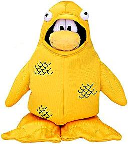 Disney Club Penguin 6.5 Inch Series 4 Plush Figure 12th Fish Costume [Includes Coin with Code!]