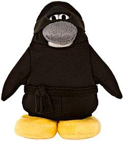 Disney Club Penguin 6.5 Inch Series 4 Plush Figure Ninja {Version 1} [Includes Coin with Code!]