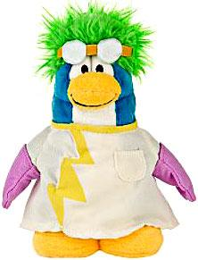 Disney Club Penguin 6.5 Inch Series 4 Plush Figure Rad Scientist [Includes Coin with Code!]