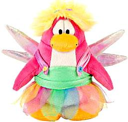 Disney Club Penguin 6.5 Inch Series 4 Plush Figure Rainbow Faery {Version 1} [Includes Coin with Code!]