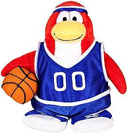 Disney Club Penguin 6.5 Inch Series 3 Plush Figure Basketball Player {Blue Uniform} [Includes Coin with Code!] Chase Piece!