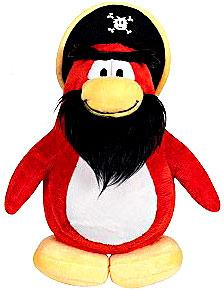 Disney Club Penguin 6.5 Inch Series 3 Plush Figure Captain Rockhopper {Version 2} [Includes Coin with Code!]