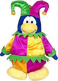 Disney Club Penguin 6.5 Inch Series 3 Plush Figure Court Jester [Includes Coin with Code!]