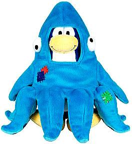 Disney Club Penguin 6.5 Inch Series 3 Plush Figure Squidzoid {Version 1} [Includes Coin with Code!]