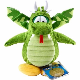 Disney Club Penguin 6.5 Inch Series 2 Plush Figure Green Dragon {Version 1} [Includes Coin with Code!]
