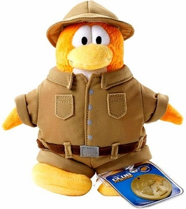 Disney Club Penguin 6.5 Inch Series 2 Plush Figure Explorer [Includes Coin with Code!]