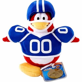 Disney Club Penguin 6.5 Inch Series 2 Plush Figure Football Player {Blue Uniform} [Includes Coin with Code!]